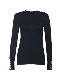 Holland Cooper Womens Blue Luxe Crew Neck Jumper