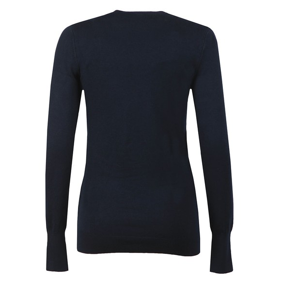 Holland Cooper Womens Blue Luxe Crew Neck Jumper main image