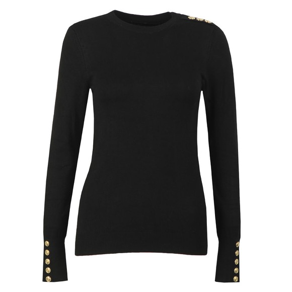 Holland Cooper Womens Black Luxe Crew Neck Jumper