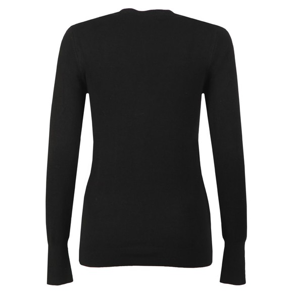 Holland Cooper Womens Black Luxe Crew Neck Jumper main image
