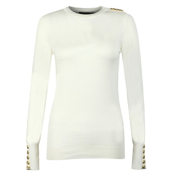 Holland Cooper Womens Off-White Luxe Crew Neck Jumper