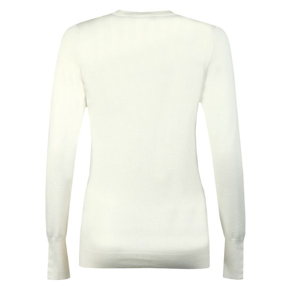 Holland Cooper Womens Off-White Luxe Crew Neck Jumper main image
