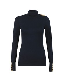 Holland Cooper Womens Ink Navy Luxe Roll Neck