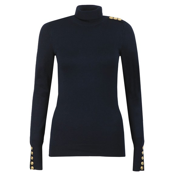 Holland Cooper Womens Blue Luxe Roll Neck
