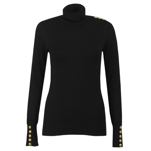 Holland Cooper Womens Black Luxe Roll Neck