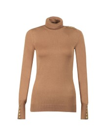 Holland Cooper Womens Brown Luxe Roll Neck