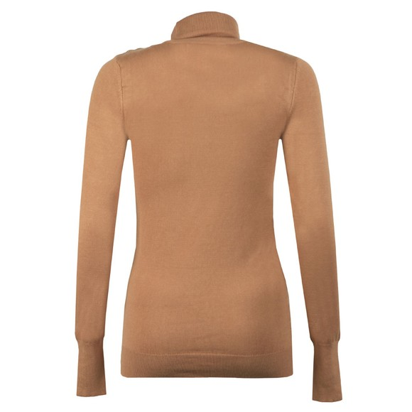 Holland Cooper Womens Brown Luxe Roll Neck main image