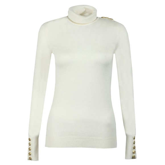 Holland Cooper Womens Off-White Luxe Roll Neck