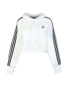 adidas Originals Womens White Cropped Hoodie