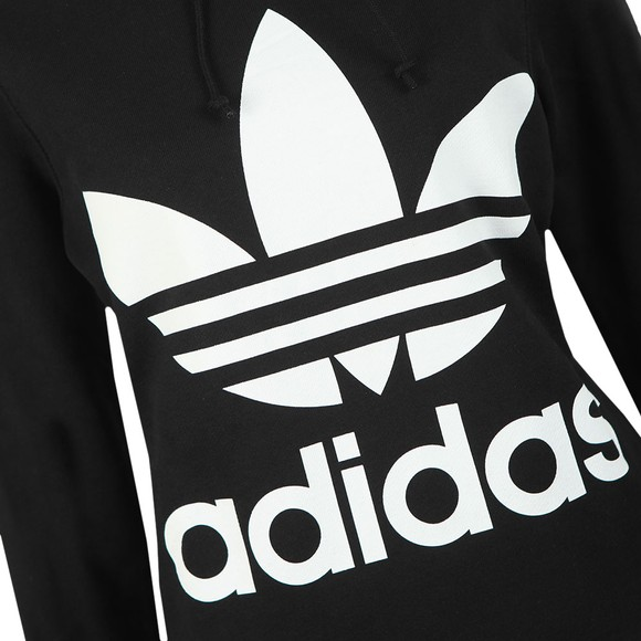 adidas Originals Womens Black Trefoil Hoodie