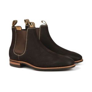 Barker Mens Brown Mansfield Suede Rubber Sole Boot main image