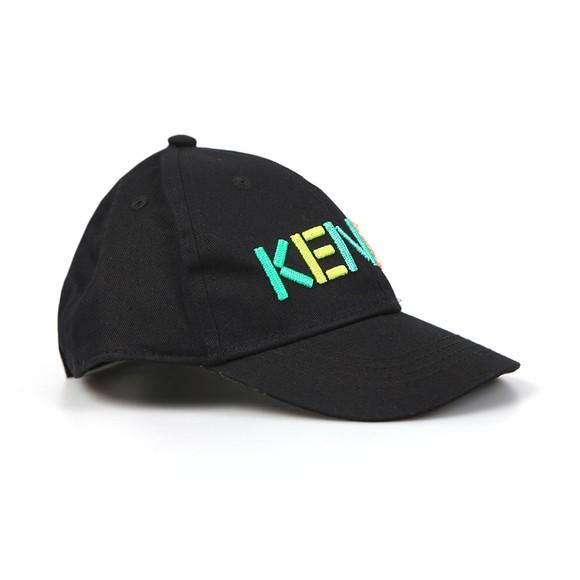Kenzo Kids Boys Black Embroidered Logo Cap main image