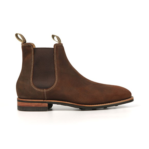 Barker Mens Brown Mansfield Suede Rubber Sole Boot