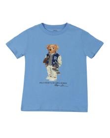 Polo Bear By Ralph Lauren Boys Blue Footbal Bear T-Shirt