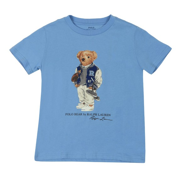 Polo Bear By Ralph Lauren Boys Blue Footbal Bear T-Shirt