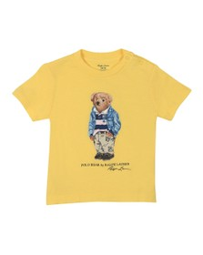 Polo Bear By Ralph Lauren Boys Yellow Baby Bear T Shirt