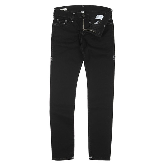True Religion Mens Black Tony No Flap Super T Jean