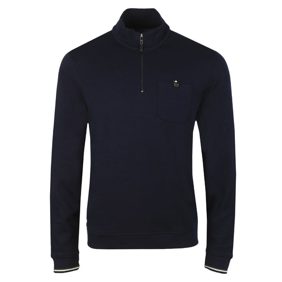 Ted Baker Mens Blue Floss Long Sleeved Funnel Neck Jumper