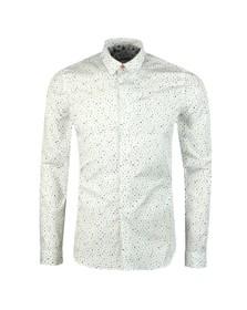 PS Paul Smith Mens White Dot Print Shirt