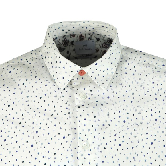 PS Paul Smith Mens White Dot Print Shirt