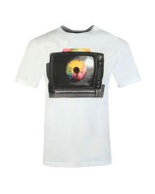 PS Paul Smith Mens White TV Eye T-Shirt