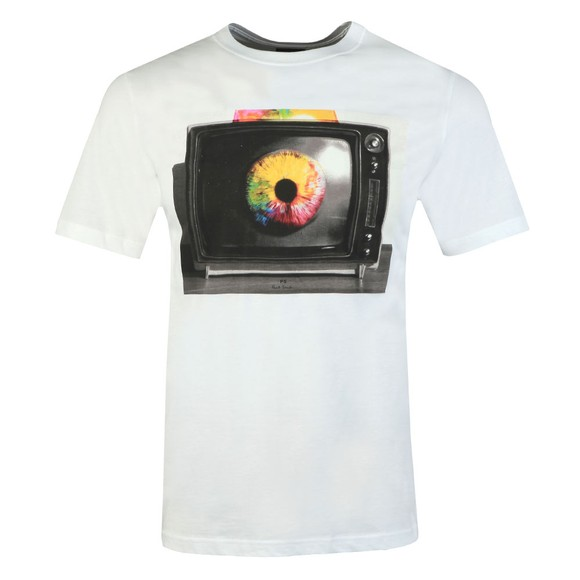 PS Paul Smith Mens White TV Eye T-Shirt