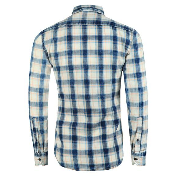 Replay Mens Blue Twin Pocket Check Shirt  main image