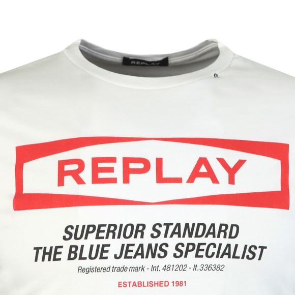Replay Mens White Superior Standard Crew T-Shirt main image