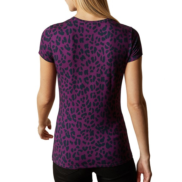 Ted Baker Womens Pink Mayai Wilderness Fitted T-Shirt main image