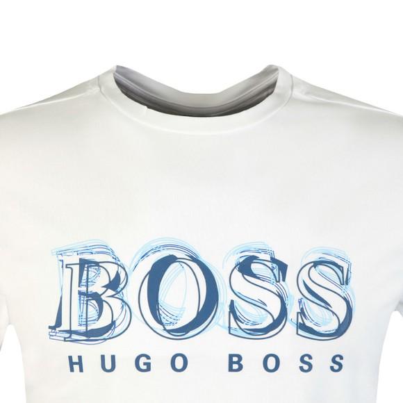 BOSS Mens White Athleisure Tee 4 Large Logo T Shirt