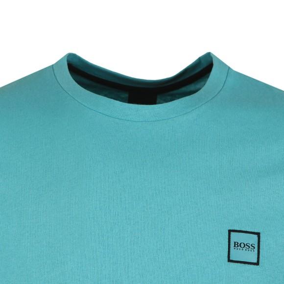 BOSS Mens Green Casual Tales T Shirt