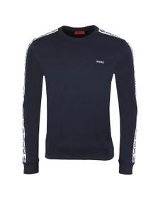HUGO Mens Blue Doby202 Taped Sweatshirt