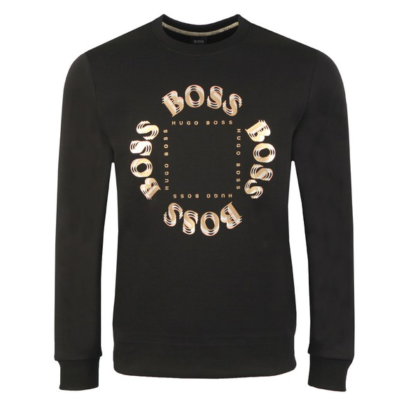 BOSS Mens Black Athleisure Salbo Circle Sweatshirt