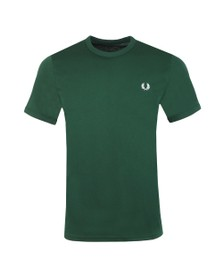 Fred Perry Mens Green Ringer T-Shirt