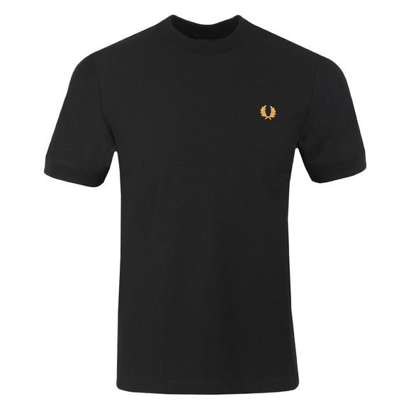 Fred Perry Mens Black Pique T-Shirt main image