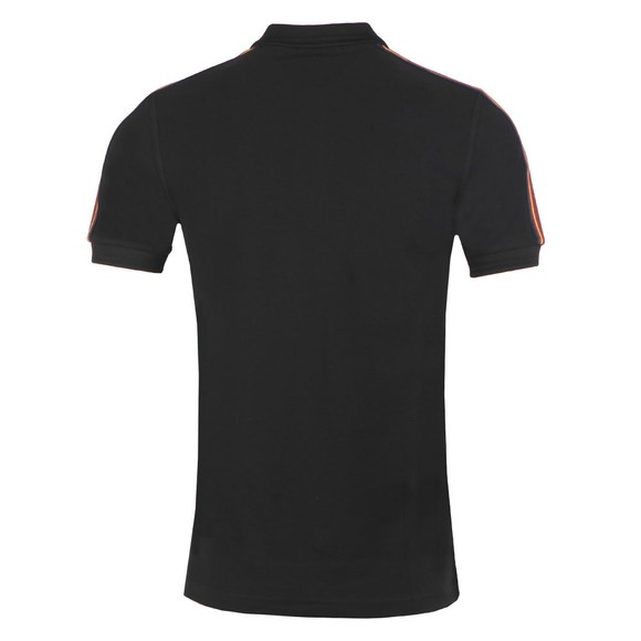 Fred Perry Mens Black Taped Shoulder Polo main image