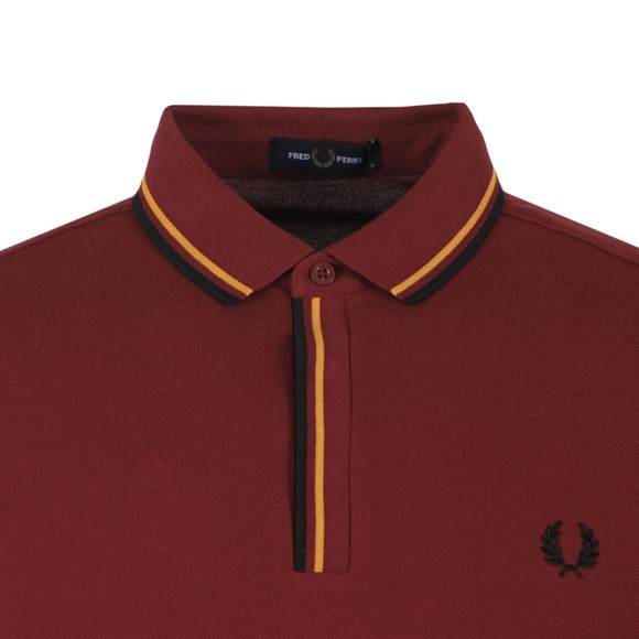 Fred Perry Mens Red Tipped Placket Polo main image