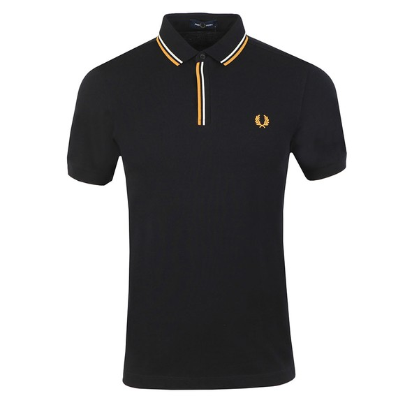 Fred Perry Mens Black Tipped Placket Polo