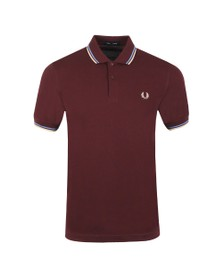 Fred Perry Mens Brown Twin Tipped Polo Shirt