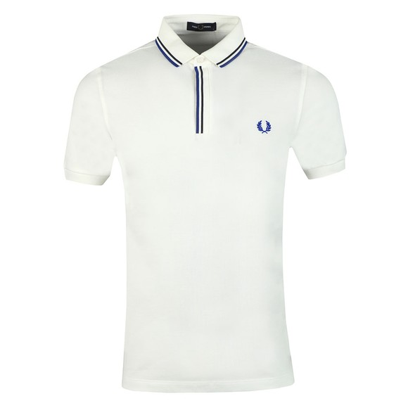 Fred Perry Mens Off-White Tipped Placket Polo