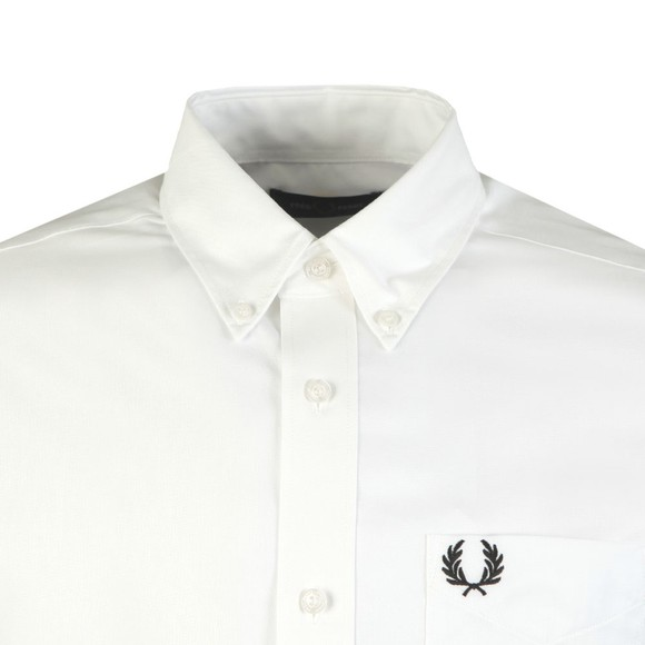 Fred Perry Mens White Oxford Shirt main image