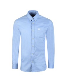 Fred Perry Mens Blue Oxford Shirt