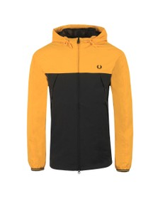 Fred Perry Mens Gold Colour Block Panel Jacket