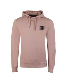 Ma.Strum Mens Pink Overhead Training Hoody