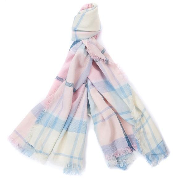 Barbour Lifestyle Womens Pink Freya Wrap Scarf