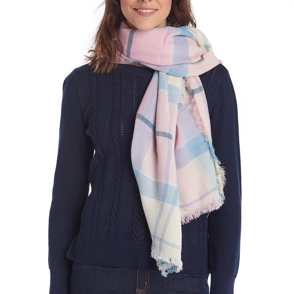 Barbour Lifestyle Womens Pink Freya Wrap Scarf main image