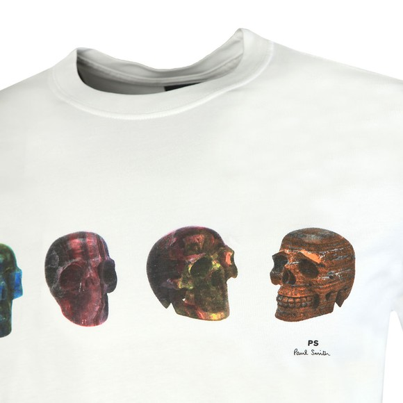 PS Paul Smith Mens White Skulls T-Shirt