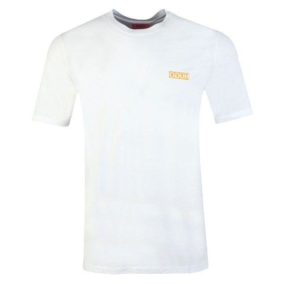 HUGO Mens White Durned202 T Shirt main image