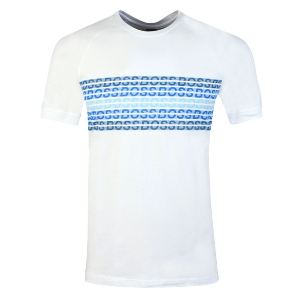 BOSS Mens White Athleisure Teera Logo T-Shirt