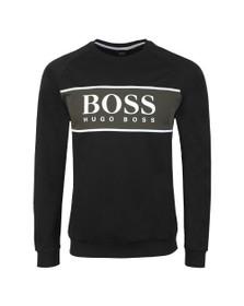 BOSS Bodywear Mens Black Authentic Block Logo Sweatshirt